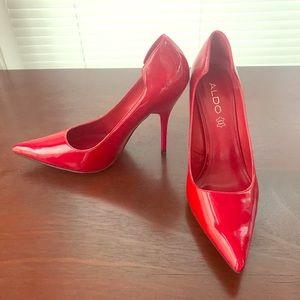 New Aldo Red Stilettos Size 39 or 9 US